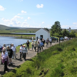 Pound and Pace passing Loch Thom
