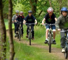 Cycling in Parkhill Wood
