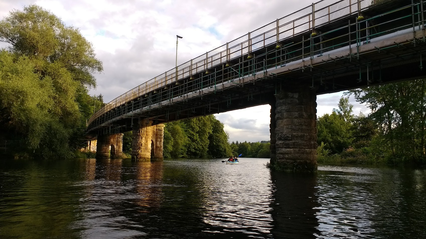 Railway Bridge over the silvery Tay, Perth