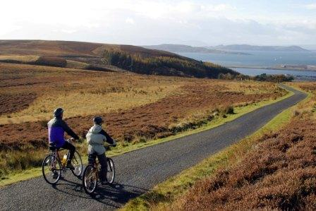 Cycling the Dalry Moor Road